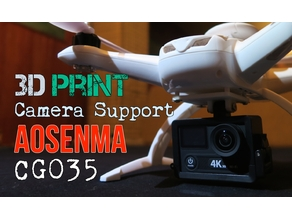 Aosenma CG035 3D Print Action Camera Support - DIY MOD @ Songoland