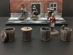 Trash Cans (28mm/Heroic scale)