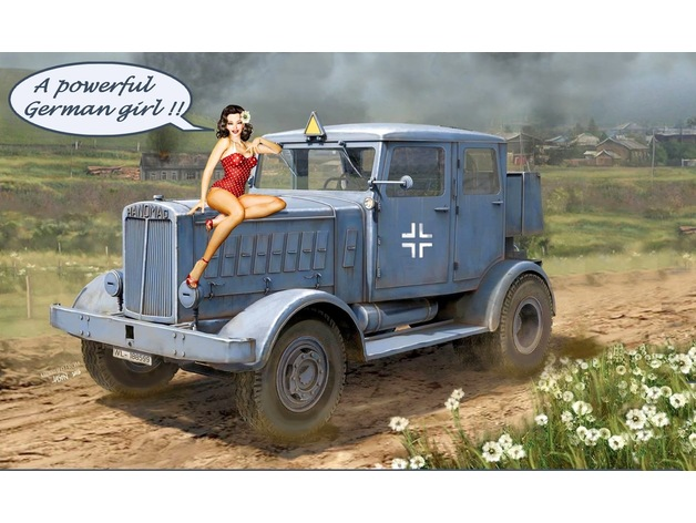 Hanomag Ss 100 German Ww 2 Heavy Road Tractor By