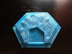 3D Catan Port Water Tile