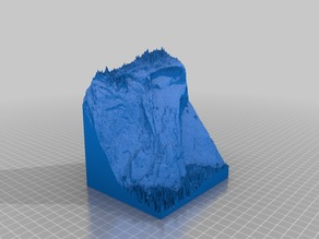 Yosemite's Royal Arch Route 3d topo