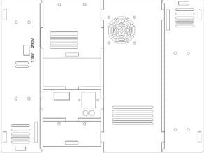 MendelMax.com Power Supply case for 12V, 30A suppply