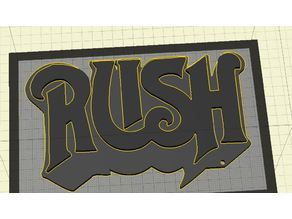 Rush (Band) Logo - Keychain