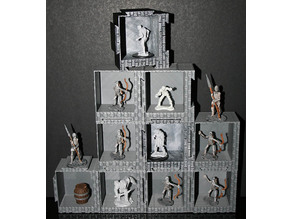 Stackable Display Miniature Boxes