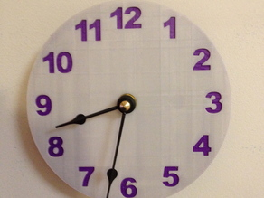 two color clock face