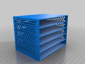 My Customized drawer box with hex pattern sides