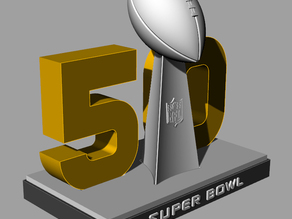 SuperBowl 50 Stand & Vince Lombardi Trophy
