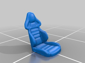 Racing seat for RC cars (3d scanned) scale 1:100