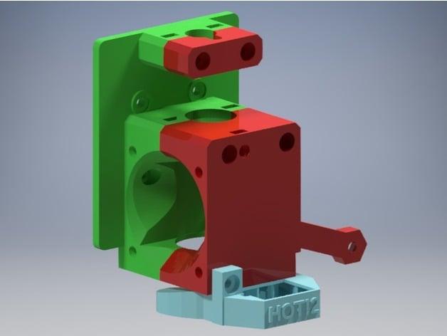 Prusa i3 MK3 Bowden Extruder for E3D v6 by FabLabCordoba