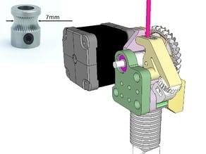 Dasaki Compact 1:3 Geared Extruder for Prusa i3 (MK8 drive gear)