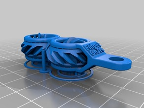 Fidget Gears V2 Keychain Print In Place