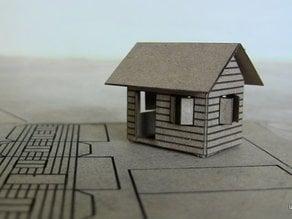 Laser cut cardboard house