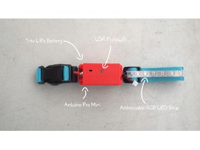 LDR Controlled LED Collar