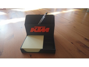 Desk organizer with KTM Logo