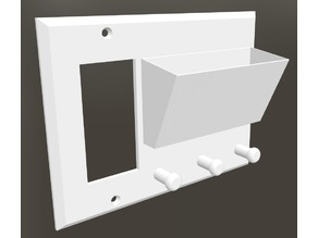 Wall Plate Key Hanger & Card Holder