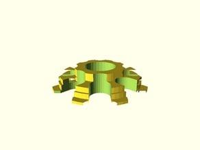 Rebelix Spool Center moded for Fillamentum (parametric)