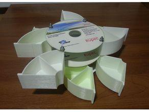 CD/DVD drawer organizer