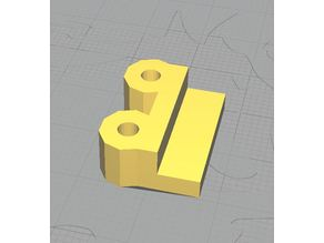 Plexiglas 4mm bracket for ~3mm screw