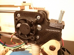 Printrbot Simple (Early 2013) Direct-Drive Extruder 30mm Fan Mount