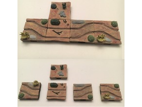 Miniature Prairie Wagon Rut Terrain