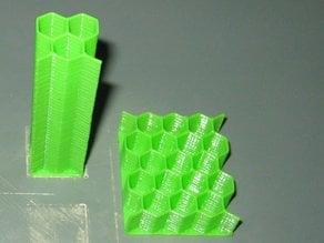 OpenSCAD Library: Parametric honeycomb generator