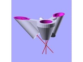 K40 Laser Air Nozzle + Double Pointer Mount