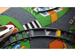 Lego City train track compatible Curved V2