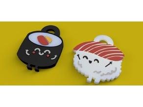 Sushi couple keychain <3