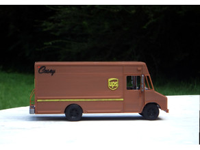 UPS Truck - Repaired Front Wheel