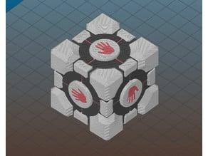 High Five Companion Cube