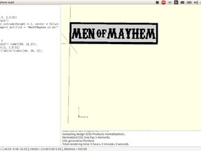 The Men Of Mayhem patch from Sons of Anarchy Tv Show.
