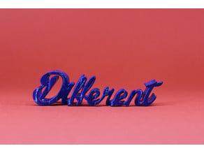 Text Flip, Think Different