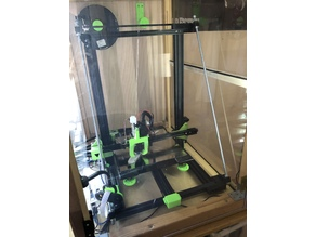 Tevo Tornado frame support for direct Petsfang and dual Z axis