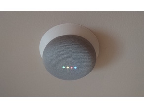 Google Home Mini mount base for round junction box