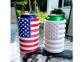 4th of July American Flag Coozie - Pencil/Sharpie Holder