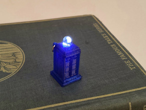 LED Tardis charm/earring