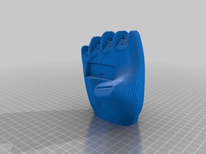 (3D Slash) Opposable_Thumb_With_HC-SR04_Sensor