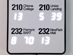NextBus Transit Clock using ESP8266