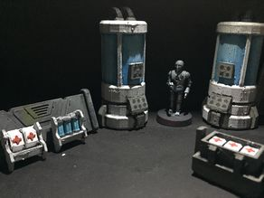 Bacta and Medpacs (star wars legion scale)