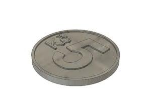 Shopping coin - 10 Kč, 5 Kč