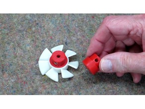 Shaded Pole Motor Cooling Fan - Printed Adapter