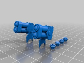 Rocket launcher for KV-47 walkers from Dust 1947 game