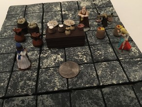 Medieval Market Accessories Miniatures