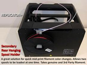 Replicator+ Secondary Filament Feed