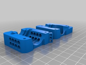 e3d v6 Bowden Mount for i3 with bigger vents and fan mount