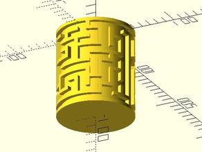 Maze cylinder generator