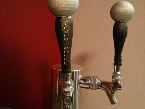 Sphere topped tap handles