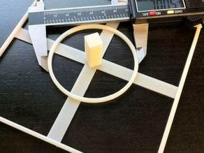 XYZ Simple Test Object for Makerbots & Repraps (90mm & 140mm)