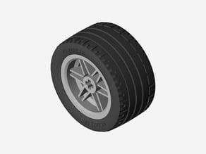 LEGO Wheel + TIRE  43.2 X 22 ZR