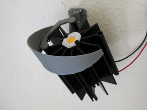 LED lamp wall mount